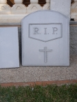 Halloween. Lápida piedra
